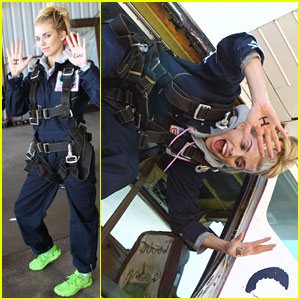 AnnaLynne McCord Jumps Out of a Plane for Charity!