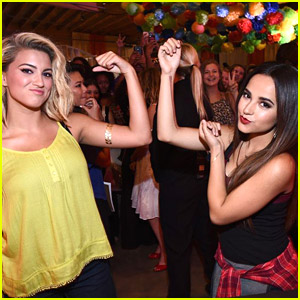 Becky G & Tori Kelly Show Off Muscles At Arizona Jean Co. Event