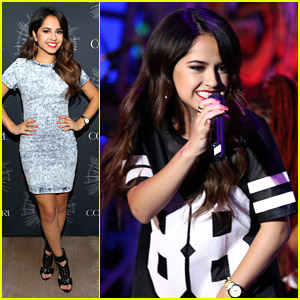 Becky G Raps With Jessie J at MTV VMAs Beauty Block Party!