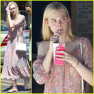 Elle Fanning Enjoys Girls' Day Out with Mom