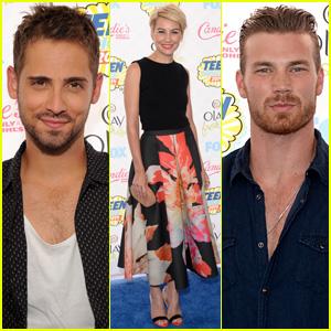 Jean-Luc Bilodeau, Chelsea Kane, & 'Baby Daddy' Cast Hit the Teen Choice Awards 2014!