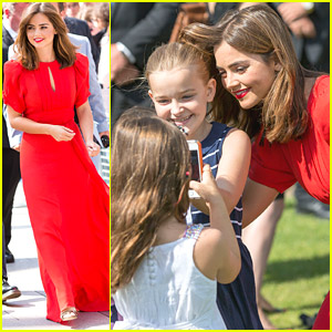 Jenna Coleman Takes Cute Selfies With Young Fans At 'Doctor Who' Premiere!