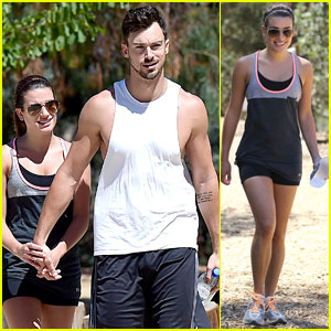 Lea Michele Holds on Tight to Boyfriend Matthew Paetz on a Hike!
