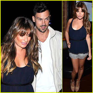 Lea Michele & Boyfriend Matthew Paetz Check Out the Justin Timberlake Concert!