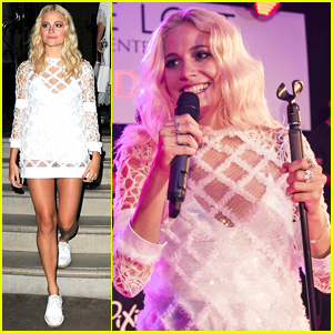 Pixie Lott Switches Up Her Oufit for Album Launch Party Performance