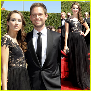 Troian Bellisario & Patrick J. Adams Are the Perfect Couple at the Creative Emmys - Watch Here!