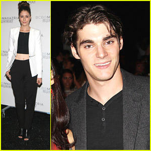 Amanda Crew & RJ Mitte Help Kick Off New York Fashion Week Fall 2014