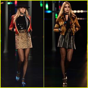 Cara Delevingne Walks Second Runway of the Day at Paris Fashion Week