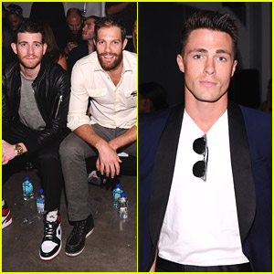 Colton Haynes & Bryan Greenberg Sit Front Row For Ovadia & Sons at NYFW