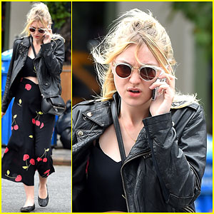 Dakota Fanning Puts a Cherry On Top Her Outfit in NYC!