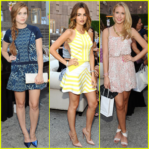 Holland Roden & Camilla Belle are Pretty Ladies at 'Parker On Spring' Launch