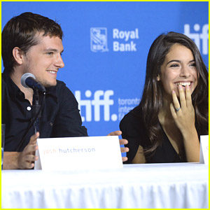 Josh Hutcherson & Claudia Traisac Steal Side Glances at 'Escobar: Paradise Lost' Press Conference in Toronto