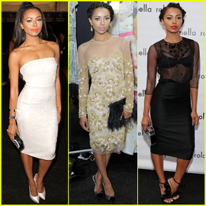 Kat Graham Attends Badgley Mischka, Naeem Khan, & Pamella Roland Shows All in One Day!