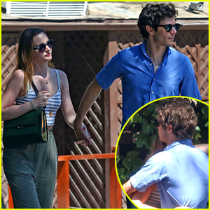 Leighton Meester & Adam Brody Hold Hands, Embrace After Romantic Lunch
