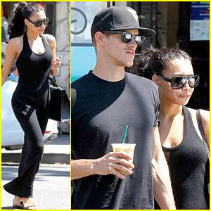 Naya Rivera & Husband Ryan Dorsey Hold Hands After Breakfast!