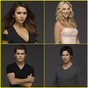 Nina Dobrev, Paul Wesley & Ian Somerhalder Go Dark for New 'Vampire Diaries' Cast Photos!