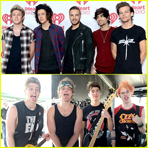 One Direction & 5 Seconds of Summer Attend iHeartRadio Music Festival, Make Girls Go Crazy!