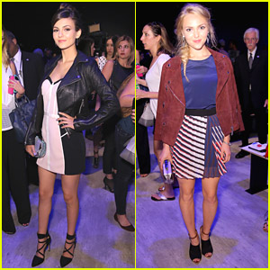 Victoria Justice & AnnaSophia Robb Go 3D with Rebecca Minkoff at NYFW