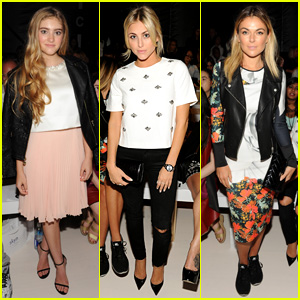 Willow Shields Watches Erin Fetherston Show From Front Row with Cassie Scerbo