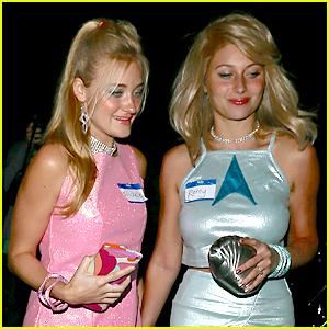 Aly & AJ Michalka Are Romy & Michelle For Kate Hudson's Halloween Bash