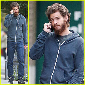 Andrew Garfield Keeps Himself Busy with a Phone Call in NYC