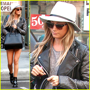 Ashley Tisdale Wears Short Shorts Just Before Halloween