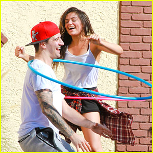 Bethany Mota & Mark Ballas Try Out Extreme Hula Hooping - See The Fun Pics!