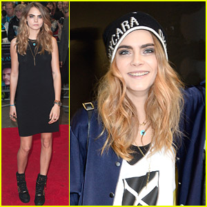 Cara Delevingne: Four 'Cara D for DKNY' Promo Stops Before 'Face of An Angel' Premiere