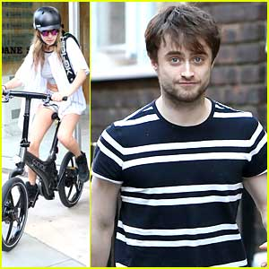 Cara Delevingne Bikes Alongside Daniel Radcliffe After Business Meeting