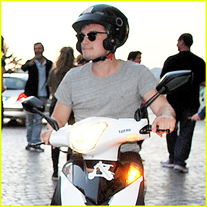 Josh Hutcherson Takes in the Sights of Rome On His Motorbike!