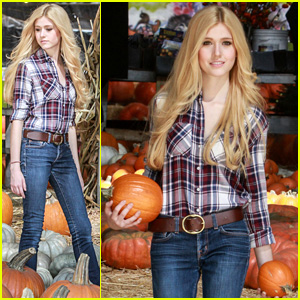 Katherine McNamara Picks Out the Perfect Pumpkin for Halloween