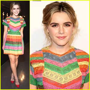 Kiernan Shipka Gets Colorful For Hollywood Costume Opening Party