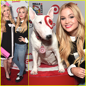 Olivia Holt & Katherine McNamara Celebrate National Cat Day with Hello Kitty!