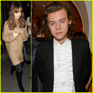 Harry Styles Hangs with Suki Waterhouse at Annabel's Event in London