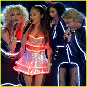 Ariana Grande is Glowing During Her 'Bang Bang' Performance at the CMA Awards 2014 - Watch Now!