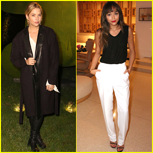 Ashley Benson Looks Great After Being Sick All Week at an Event with Ashley Madekwe
