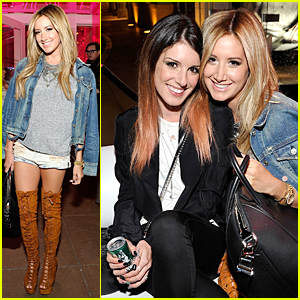 Ashley Tisdale & Shenae Grimes Meet Up at Revolve Pop-Up Launch
