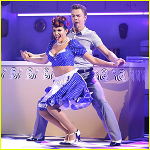 Bethany Mota & Derek Hough Honor 'I Love Lucy' for 'DWTS' Salsa - See the Pics!