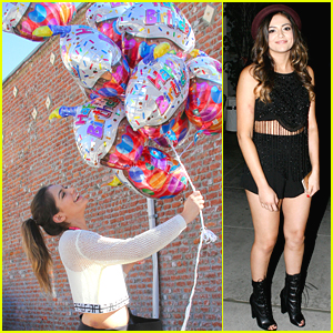 Bethany Mota Gets Even More Balloons On Her Birthday Before Dinner With Derek Hough
