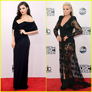 Charli XCX & Katy Tiz Are Sexy Ladies in Black at American Music Awards 2014