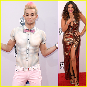 Frankie Grande Makes a Statement By Wearing No Shirt to American Music Awards 2014!