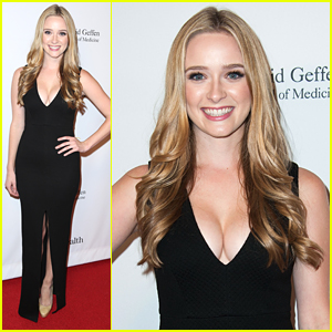 Greer Grammer Supports Dad Kelsey at UCLA's Visionary Ball 2014