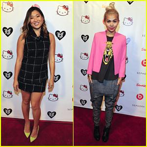 Hayley Kiyoko & Jenna Ushkowitz Party It Up With Hello Kitty