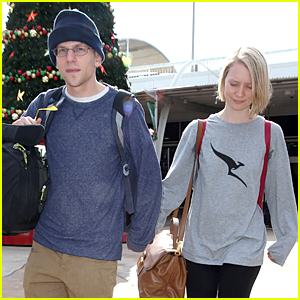 Mia Wasikowska Takes Boyfriend Jesse Eisenberg Back to Her Home Country