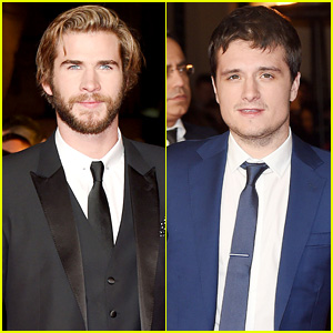 Liam Hemsworth & Josh Hutcherson Look Dapper at the 'Mockingjay' London Premiere