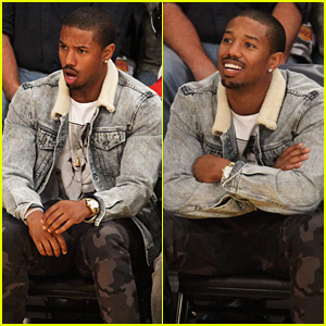 Michael B. Jordan Looks So Shocked at the Lakers Game