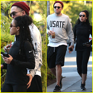 Robert Pattinson & FKA twigs Show Some PDA on a Lunch Date!