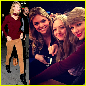 Taylor Swift Sits Next to Kate Upton & Amanda Seyfried at Knicks Game!