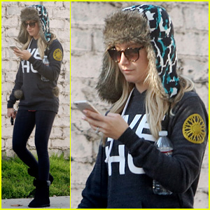 Ashley Tisdale Rocks a Parka Hat Better Than Any One We Know