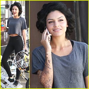 Bianca Santos Shows Off Tattooed Arms On 'Wild For The Night' Set